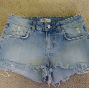 NWOT Zara Trafaluc Distressed Demin Shorts